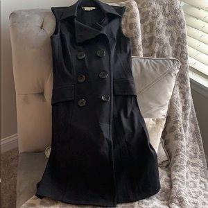 "Black ""vest"" dress"